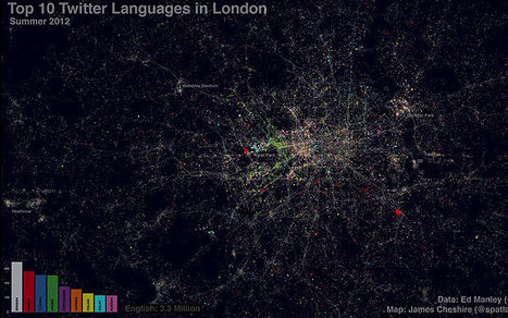 Twitter map of London shows 66 languages  - Telegraph | Internet 2013 | Scoop.it