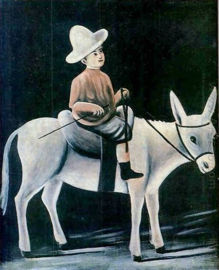 Oil painting reproduction: Niko Pirosmani A Boy On A Donkey - Artisoo.com | arts&oil | Scoop.it