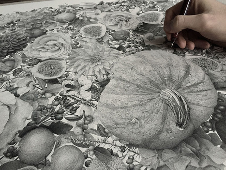 Millions of Hand-Inked Dots Comprised this New Stippled Illustration by Xavier Casalta   Amazing art!   Scoop.it