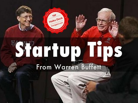 Warren Buffet Startup Tips - Top @HaikuDeck By 34% | Startup Revolution | Scoop.it
