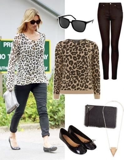 Look à moins de 150 € : le pull imprimé léopard de Kate Moss - Elle   La mode en France   Scoop.it