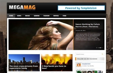 MegaMag Blogger Template | Templateism | Blogger themes | Scoop.it