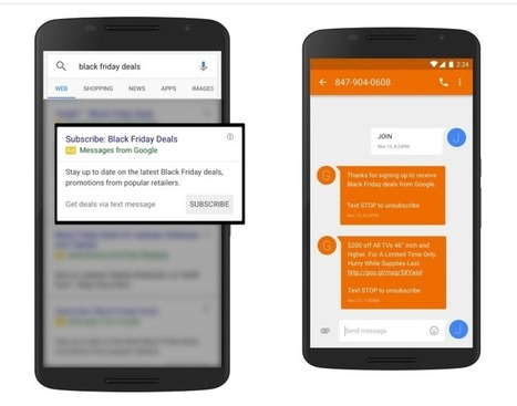Google Wants To Text Message You With Holiday Shopping Deals | AtDotCom Social media | Scoop.it