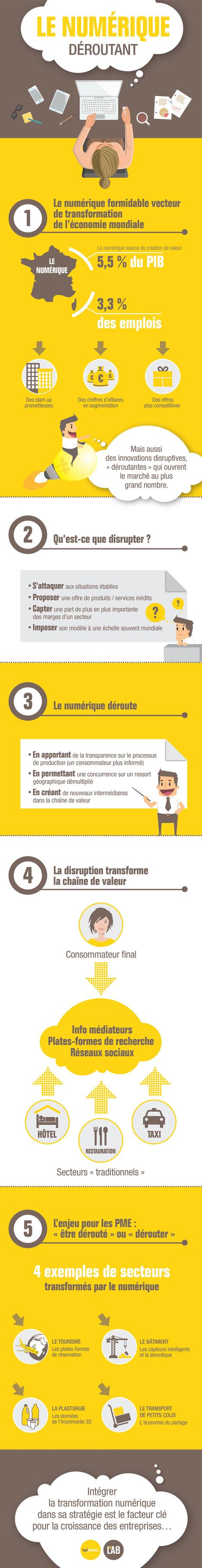 Etude | Le numérique déroutant et la disruption digitale (infographie Bpifrance Le Lab) | Webmarketing infographics - La French Touch digitale en images | Scoop.it