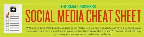 Infographic: Small Business Social Cheat Sheet - Marketing Technology Blog | #sm4np | Scoop.it