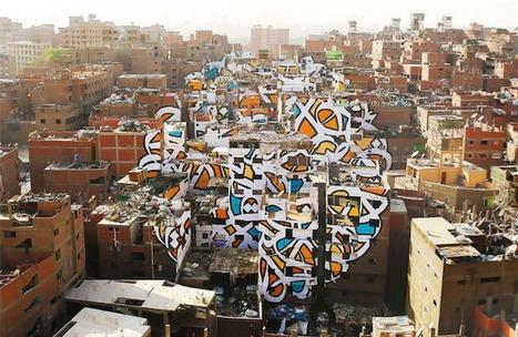 Le Caire : Anamorphose géante dans un quartier défavorisé | Créativité urbaine | Scoop.it