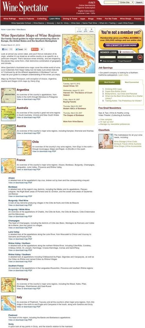 Wine Spectator's Maps of Key Wine Regions | 'Winebanter' | Scoop.it
