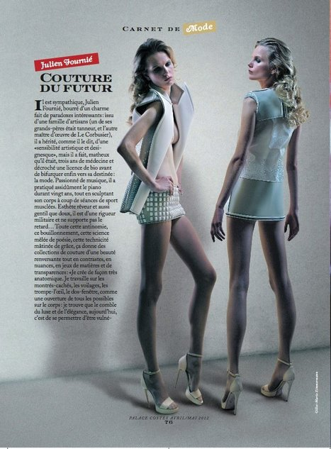Julien Fournié in Palace Costes Magazine - May 2012 issue 1/4 | FashionLab | Scoop.it