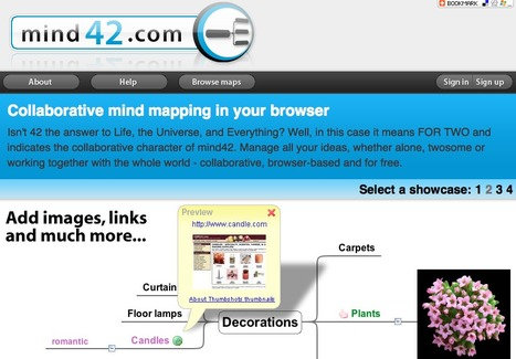 Mind42.com - Collaborative mind mapping in your browser | Moodle and Web 2.0 | Scoop.it