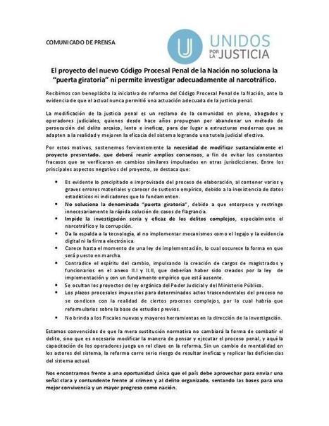 Improvisación e impunidad en el nuevo Código Procesal Penal ‹ UnidosJusticia.org | Seguridad, Justicia y Derechos Humanos | Scoop.it