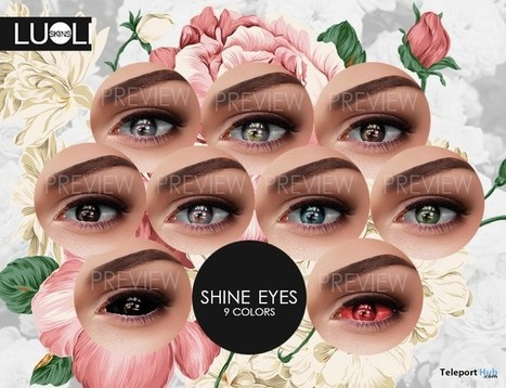 Shine Eyes by LUoLI | Teleport Hub - Second Life Freebies | Second Life Freebies | Scoop.it