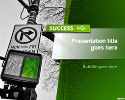 Free Road to Success PowerPoint Template | Free Powerpoint Templates | career path | Scoop.it