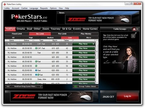 PokerStars Trials Table Grouping Lobby for Real Money | Pokerfuse | Hit by the deck | Scoop.it