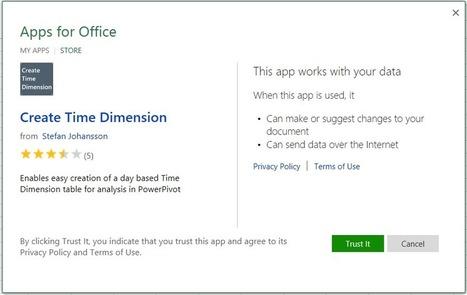 Office App: Créer une table de dimension «temps» dans Excel | MSExcel | Scoop.it