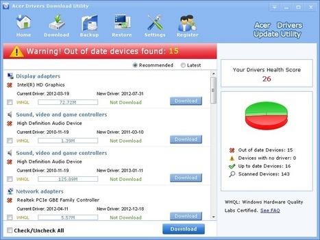 Acer Drivers Download Update Tool - LionSea™ Software | Acer Driver Updater | Scoop.it