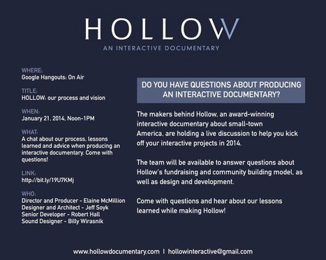 Hollow: Our Lessons Learned, Your Guide to Producing an iDoc | Digital Cinema - Transmedia | Scoop.it
