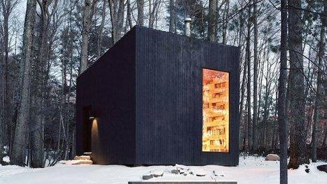 Le lieu rêvé pour les amoureux des livres : une cabane confortable et isolée au milieu des bois. | BiblioLivre | Scoop.it
