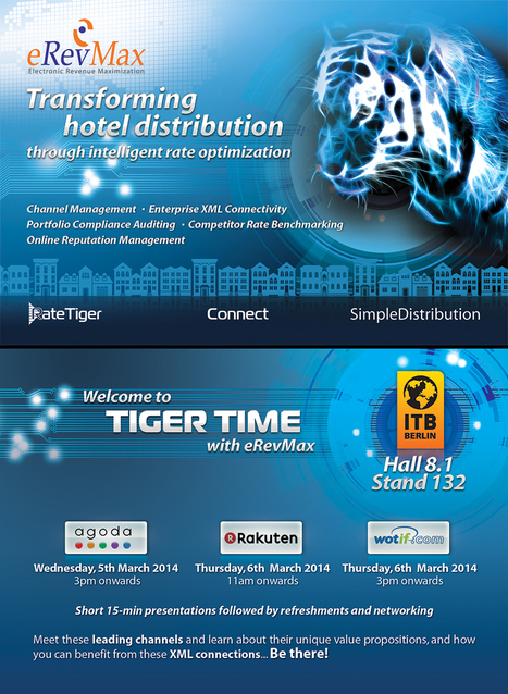 eRevMax to host TigerTime at ITB Berlin for hoteliers | Events & Awards | Scoop.it