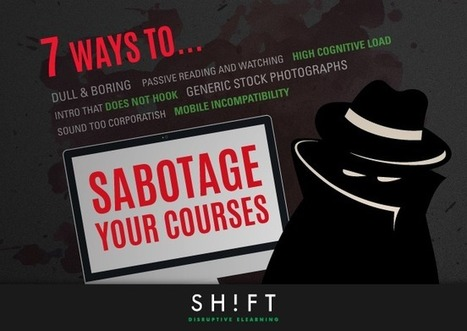 7 Ways You're Sabotaging Your eLearning Courses (Plus 25 Solutions) | Hybrid Learning Initiative | Scoop.it