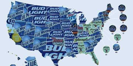 MAP: America's Favorite Beers By State - Business Insider | M@pping the World | Scoop.it