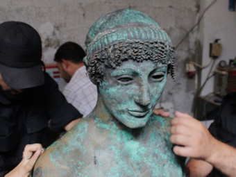 A Greek Treasure Pulled From The Sea Disappears Again In Gaza - OPB News | Ancient Civilization | Scoop.it