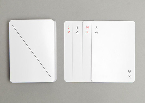 Ultra-minimalist playing cards that are almost blank | Communication design | Scoop.it