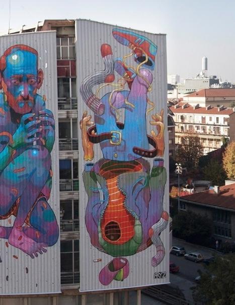 Street art by Aryz | InspireFirst | World of Street & Outdoor Arts | Scoop.it