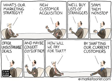"""Customer Acquisition"" cartoon | Tom Fishburne: Marketoonist | Funny! | Scoop.it"