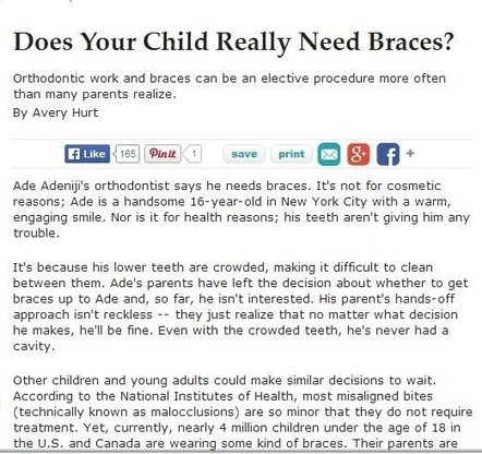 Need for Braces: When to Bring Your Child to a Greenwood Orthodontist   M.A. Vorhies Orthodontist   Scoop.it