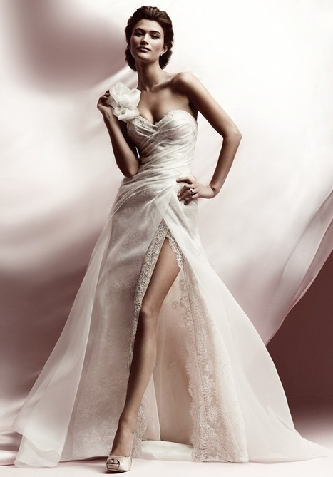 Wedding Dress Trend: Front Slits - | Wedding Dresses | Scoop.it
