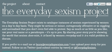 Documenting the daily experiences of sexism: The Everyday Sexism Project | Social Media 4 Good | Scoop.it