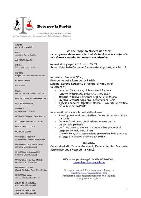 eudifitalia.it | PER UN'AGENDA PARLAMENTARE DI GENERE DIVERSO | Scoop.it