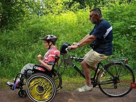 Manche (76) Un retraité invente un système pour placer un fauteuil roulant à l'avant du vélo ...!!!   Au Bron Vélo   Scoop.it