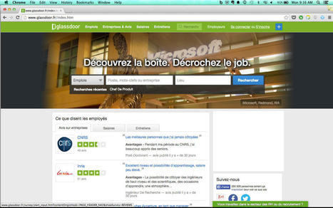 Le jobboard californien Glassdoor arrive en France. | RH 2.0 dans l'IT | Scoop.it