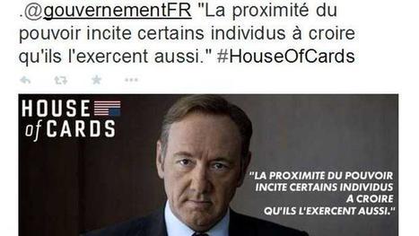Le gouvernement détourne House of Cards pour faire son service après-vente | Clemi - De la communication, politique, publique, publicitaire... | Scoop.it