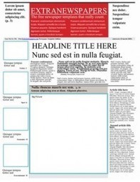 Newspaper Template Pack For Word. Perfect For School | Creating Newspapers in the Classroom | Scoop.it
