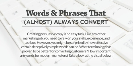 The words and phrases that convert are almost always simple (Infographic) | Public Relations & Social Media Insight | Scoop.it
