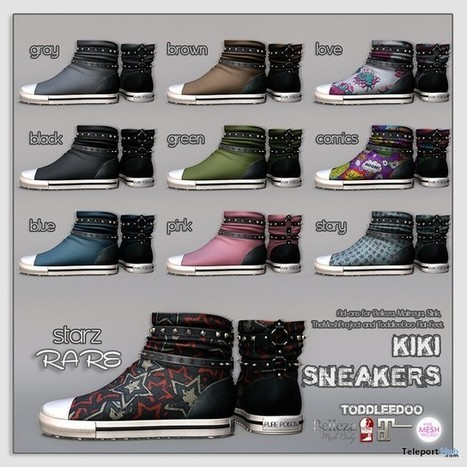Kiki Sneakers November 2015 Gacha Group Gift by Pure Poison | Teleport Hub - Second Life Freebies | Second Life Freebies | Scoop.it
