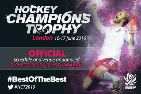 FIH 2016 Mens Hockey Champions Trophy Schedule | Today Sports | Scoop.it
