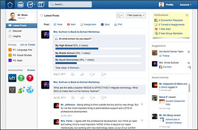 Edmodo Evolves Closer to In-School Social Network   Educational Technology in Higher Education   Scoop.it