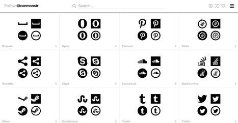 iconmonstr : des icônes gratuites, libres de droit et sans attribution | Numérique : pratiques et outils | Scoop.it