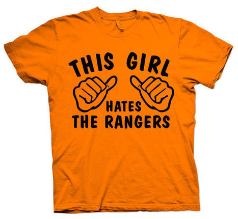 This Girl Hates - The Rangers TShirt Orange Go Flyers tee shirt 039   Mindfulwear Collection   Scoop.it