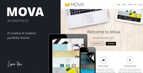 Mova - Wordpress Theme for creative minds - WordpressThemeDB | WordpressThemeDatabase | Scoop.it