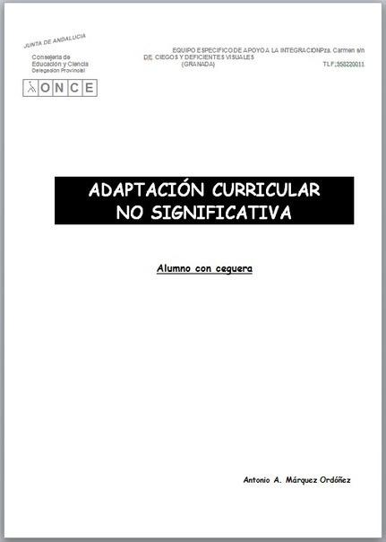Adaptación Curricular No Significativa para alumno ciego en Primaria | El mundo de la Educación Especial | Scoop.it