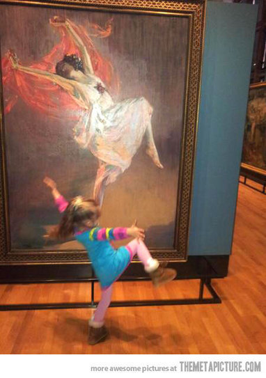 Little girl moved by art… | Art is where you see it | Scoop.it