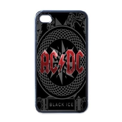 Apple iPhone Case - AC DC Black Ice Rock Band Logo - iPhone 4 Case | Merchanstore - Accessories on ArtFire | Custom iPhone 4 or 4S Case Cover | Scoop.it