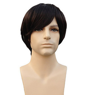 High Quality Capless Synthetic Short Straight Natural Black Man'S Wigs – WigSuperDeal.com | Party Wigs | Scoop.it