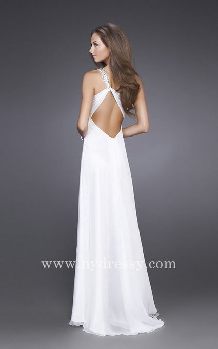 White sweetheart one shoulder long homecoming dress by La Femme 15361 [La Femme 15361] - $164.00 : Prom Dresses | Evening Dresses | Dresses From nydressy.com | Dresses for girls | Scoop.it