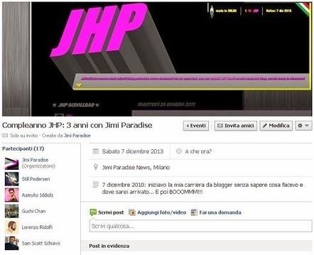 Jimi Paradise: 7 dicembre: si avvicina il terzo compleanno del JHP! | QUEERWORLD! | Scoop.it