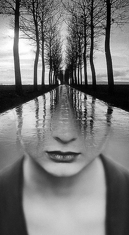 Surreal Self-Portraits Blended Into Landscape Photos | climate change | Scoop.it